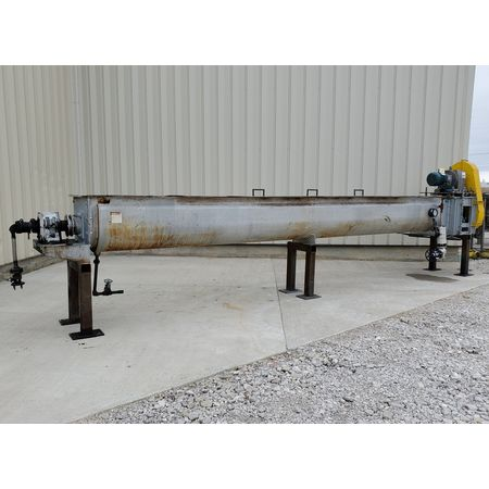 Image THOMAS CONVEYOR CO. Heating Thermal Screw Auger Conveyor - 62 Sq. Ft., 18in X 20ft  1455768
