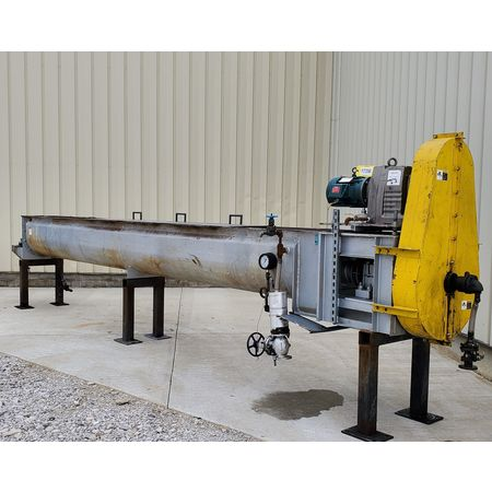Image THOMAS CONVEYOR CO. Heating Thermal Screw Auger Conveyor - 62 Sq. Ft., 18in X 20ft  1455769