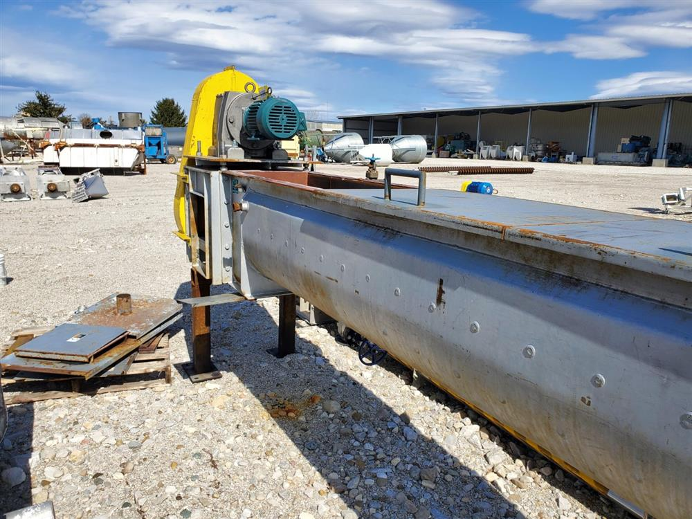 Image THOMAS CONVEYOR CO. Heating Thermal Screw Auger Conveyor - 62 Sq. Ft., 18in X 20ft  1469427