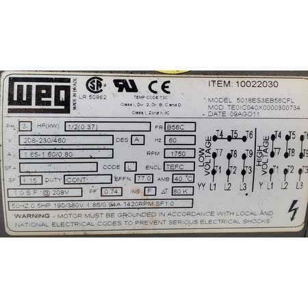 Image 10in Dia. Rotary Drum Magnet Magnetic Separator 1456091