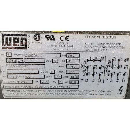 Image 10in Dia. Rotary Drum Magnet Magnetic Separator 1455788