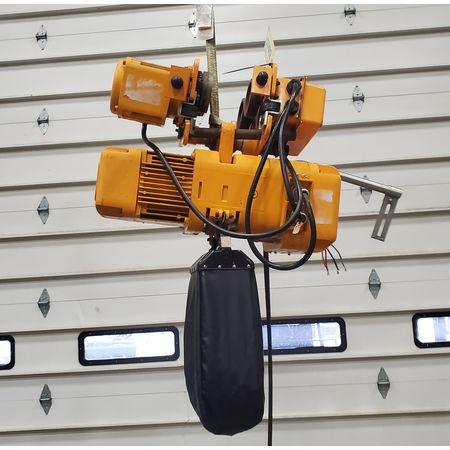 Image 2 Ton HARRINGTON Electric Hoist with Trolley 1455938