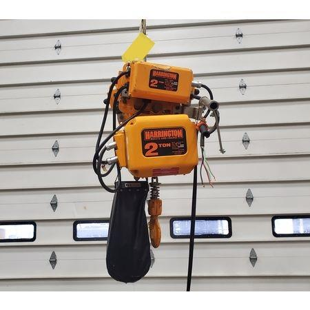 Image 2 Ton HARRINGTON Electric Hoist with Trolley 1455972