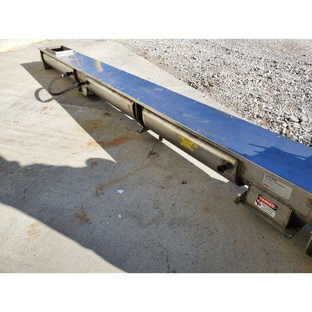 Image LINK BELT Jacketed Mixing Screw Auger Paddle Conveyor - 9in Dia X 15ft-4in L 1456139