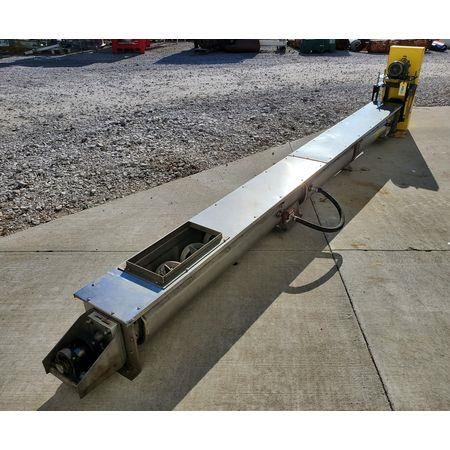 Image LINK BELT Jacketed Mixing Screw Auger Paddle Conveyor - 9in Dia X 15ft-4in L 1456141