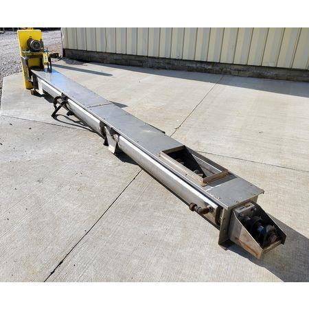 Image LINK BELT Jacketed Mixing Screw Auger Paddle Conveyor - 9in Dia X 15ft-4in L 1456142