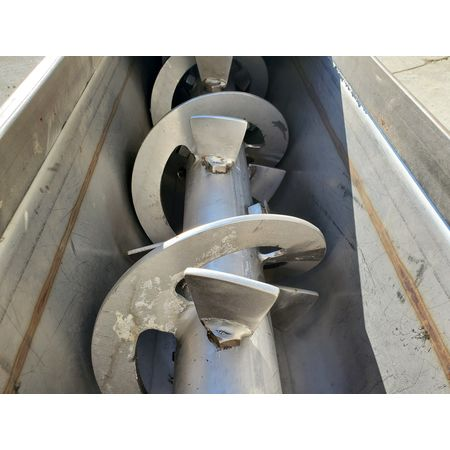 Image LINK BELT Jacketed Mixing Screw Auger Paddle Conveyor - 9in Dia X 15ft-4in L 1455953