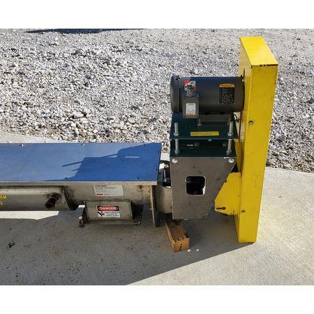 Image LINK BELT Jacketed Mixing Screw Auger Paddle Conveyor - 9in Dia X 15ft-4in L 1456138