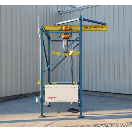 Image 2 Ton FLEXICON Bulk Bag Discharger Unloader with Hoist and Trolley 1455961