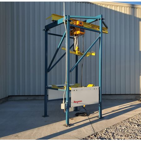 Image 2 Ton FLEXICON Bulk Bag Discharger Unloader with Hoist and Trolley 1455962