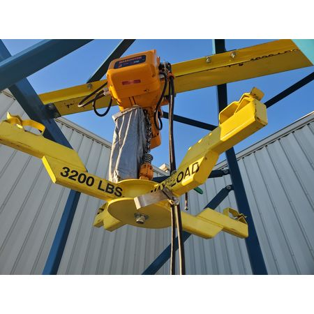 Image 2 Ton FLEXICON Bulk Bag Discharger Unloader with Hoist and Trolley 1455963