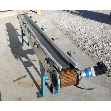 Image BUNTING MAGNETICS Belt Conveyor - Parts, 6in Wide X 8ft-10in Long  1455982