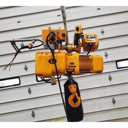 Image 2 Ton HARRINGTON HOISTS Electric Hoist with Motorized Trolley 1455994