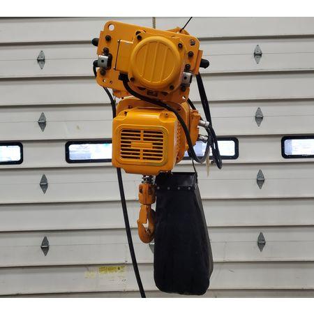 Image 2 Ton HARRINGTON HOISTS Electric Hoist with Motorized Trolley 1455996