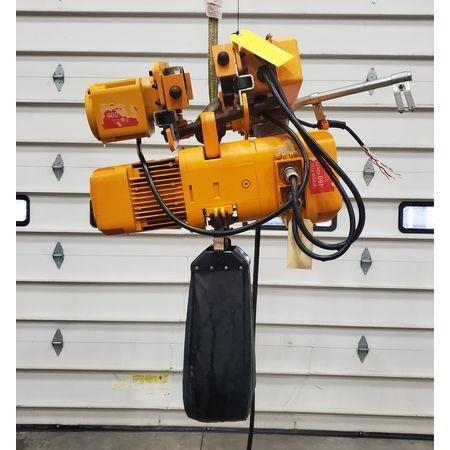 Image 2 Ton HARRINGTON HOISTS Electric Hoist with Motorized Trolley 1456006
