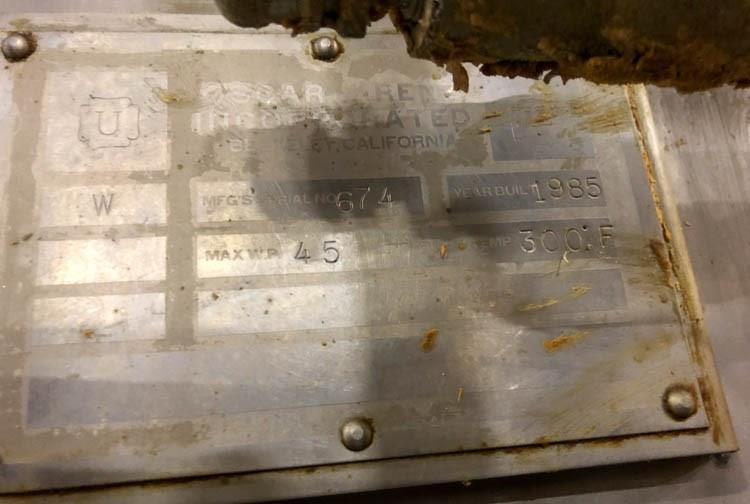 Image 25 Cu. Ft. OSCAR KRENZ Jacketed Ribbon Blender - Twin Shaft, Stainless Steel  1456013