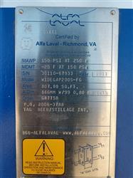 Image ALFA LAVAL WIDEGAP200S-FG Plate Heat Exchanger - 800 Sq. Ft.  1457107