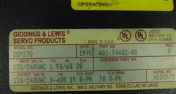 Image GIDDINGS & LEWIS Indexing Servo Drive Automation Control 1457741