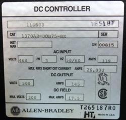 Image ALLEN BRADLEY High Performance DC Drive 1457821