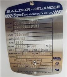 Image 20 HP BALDOR AC Industrial Motor 1457908