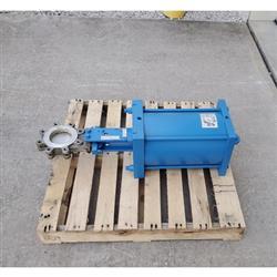 Image 4in ITT ENGINEERED VALVES C67 Fabri-Valve Bi-Directional Knife Gate 1458257