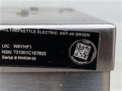 Image 40 Gallon GROEN Jacketed Tilting Kettle 1459283