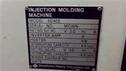 Image SUMITOMO SD40E Injection Molding Machine - 40 Ton 1460094
