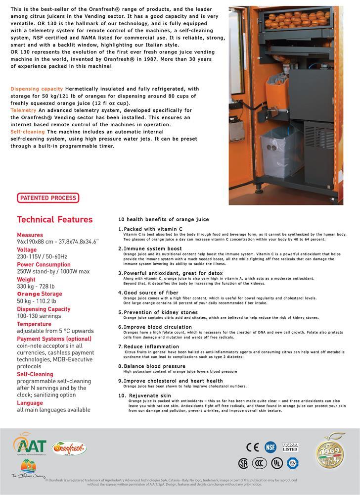 Image ORANFRESH Orange Juice Vending Machine  1460375