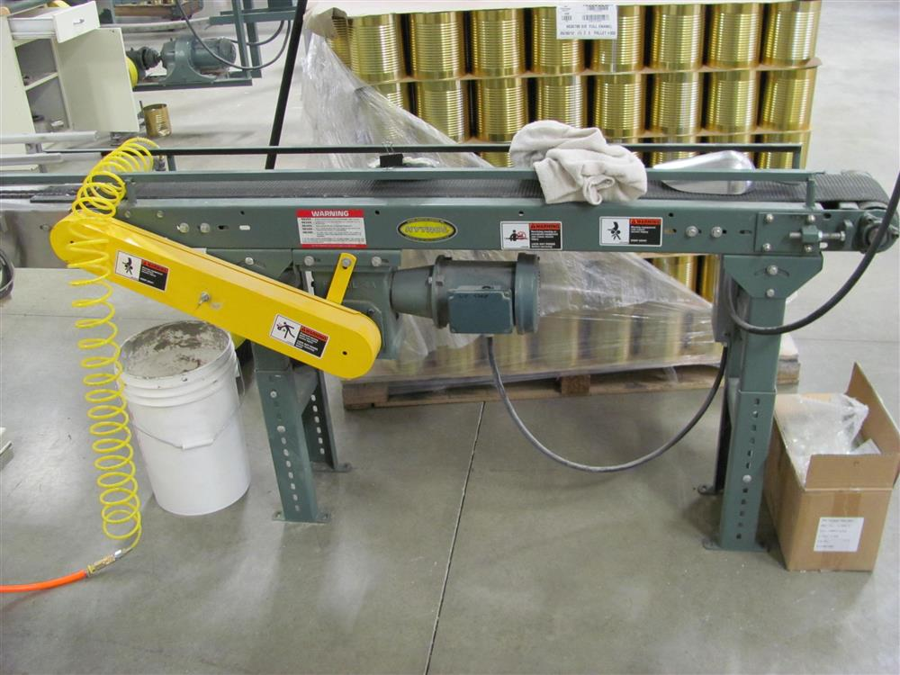 Image Three HYTROL Belt Over Incline Conveyors Sized for #10 Cans - 70in Long 1460896