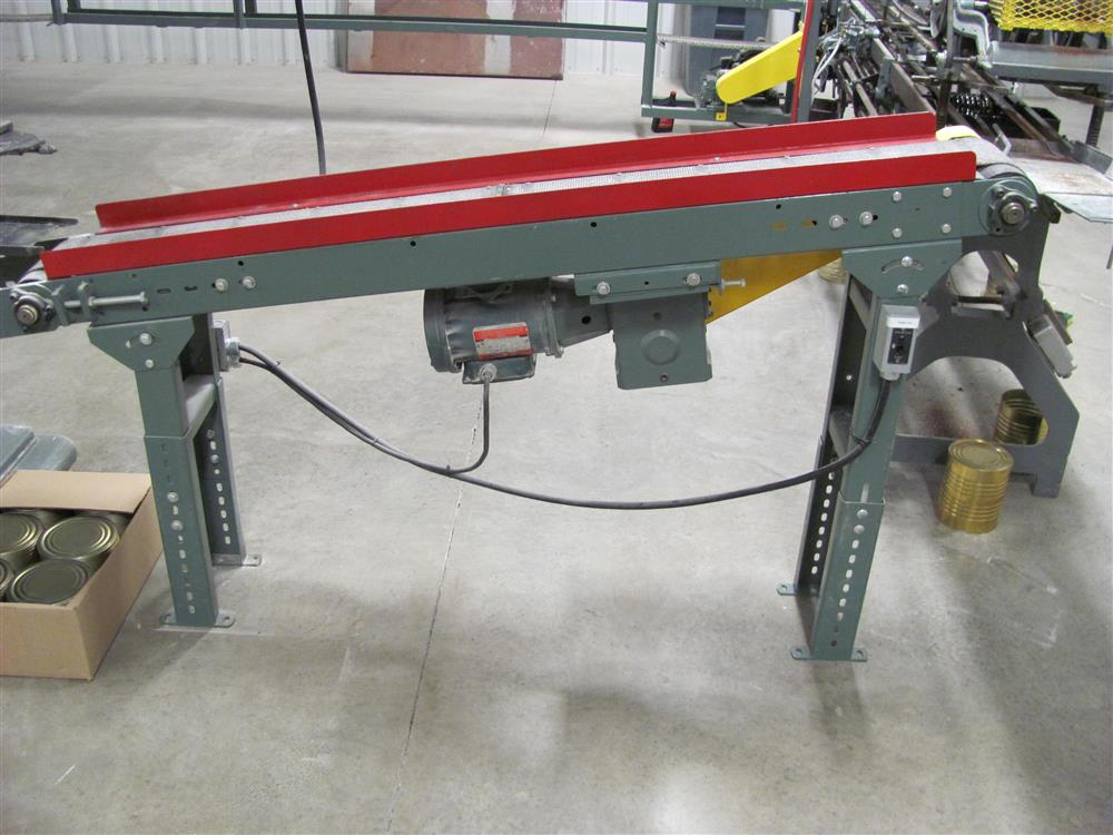 Image Three HYTROL Belt Over Incline Conveyors Sized for #10 Cans - 70in Long 1460898