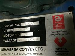 Image IMH / VERSA Motorized Rolling Conveyor with Side Guards - 7ft X 27in 1461201