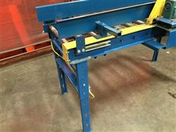 Image IMH / VERSA Motorized Rolling Conveyor with Side Guards - 7ft X 27in 1461211
