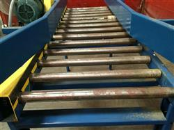 Image IMH / VERSA Motorized Rolling Conveyor with Side Guards - 7ft X 27in 1461206
