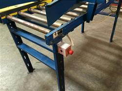 Image IMH / VERSA Motorized Rolling Conveyor with Side Guards - 7ft X 27in 1461207