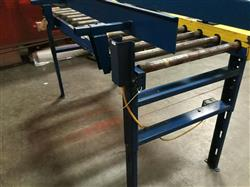 Image IMH / VERSA Motorized Rolling Conveyor with Side Guards - 7ft X 27in 1461209
