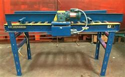 Image IMH / VERSA Motorized Rolling Conveyor with Side Guards - 7ft X 27in 1461210