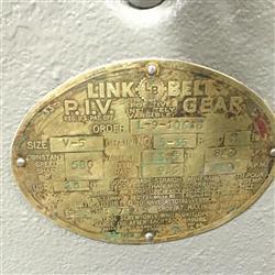 Image LINK BELT P.I.V. Gear Drive 1461315
