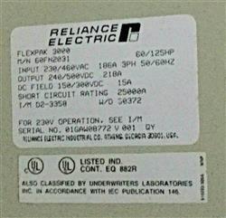 Image RELIANCE ELECTRIC Flex-Pak 3000 Drive 1461487