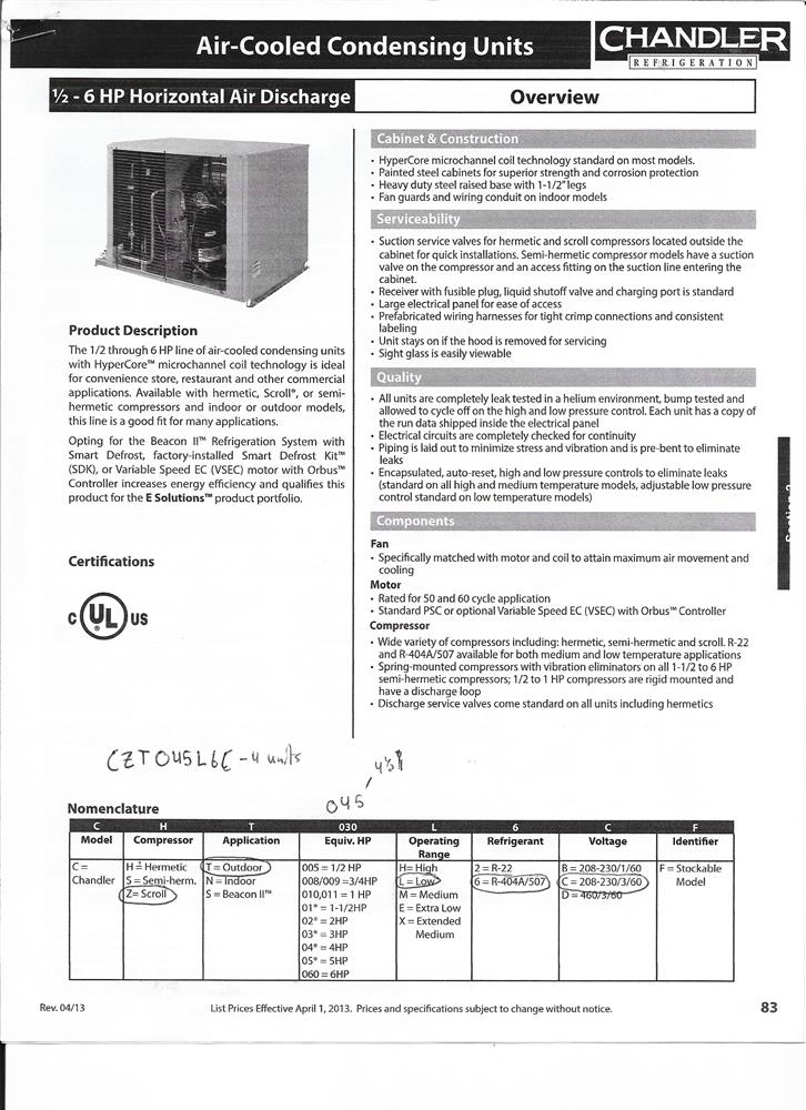 Image HEAT CRAFT Compressor Condensor 1462330