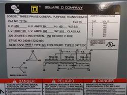 Image SQUARE D Transformer 1463079