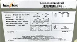 Image FEDERAL PACIFIC 36B Transformer - 275 KVA 1464409