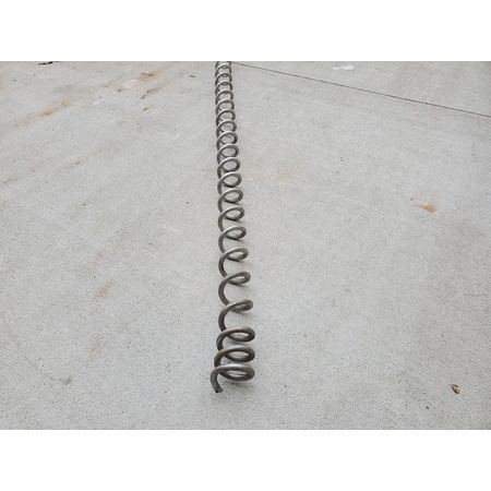 Image 4in Dia. FLEXICON Flex-Screw Conveyor with Hopper - Stainless Steel 1464824