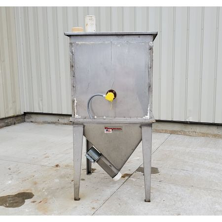 Image 4in Dia. FLEXICON Flex-Screw Conveyor with Hopper - Stainless Steel 1464825