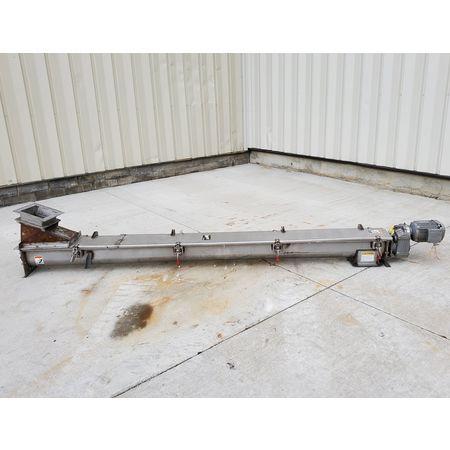 Image CONVEYOR ENGINEERING & MFG Screw Auger Conveyor - 6in Dia. X 10ft, Stainless Steel  1464903