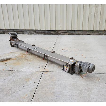 Image CONVEYOR ENGINEERING & MFG Screw Auger Conveyor - 6in Dia. X 10ft, Stainless Steel  1464904