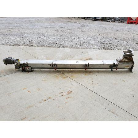 Image CONVEYOR ENGINEERING & MFG Screw Auger Conveyor - 6in Dia. X 10ft, Stainless Steel  1464906
