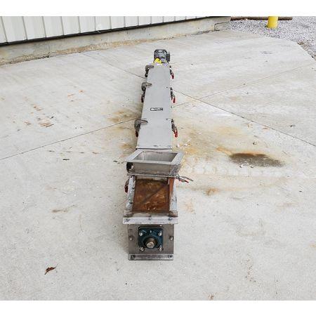 Image CONVEYOR ENGINEERING & MFG Screw Auger Conveyor - 6in Dia. X 10ft, Stainless Steel  1464907