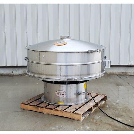Image THERMAL ENGINEERING OF ARIZONA Single Deck Shaker Screen Vibratory Separator - Stainless Steel, 60in Dia.  1464945