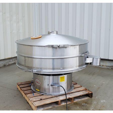 Image THERMAL ENGINEERING OF ARIZONA Single Deck Shaker Screen Vibratory Separator - Stainless Steel, 60in Dia.  1464946