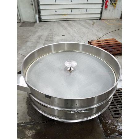 Image THERMAL ENGINEERING OF ARIZONA Single Deck Shaker Screen Vibratory Separator - Stainless Steel, 60in Dia.  1464947